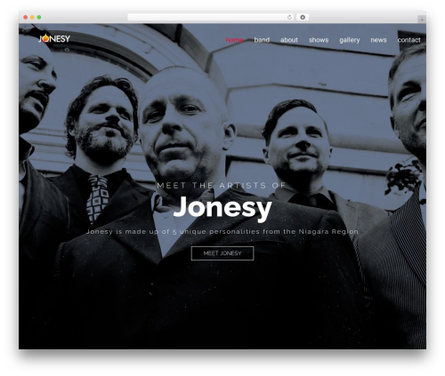 WordPress template MUZIQ Jellythemes - jonesyniagara.com