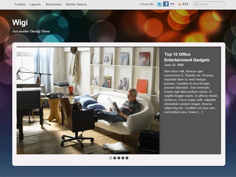 Best WordPress template Themify Wigi