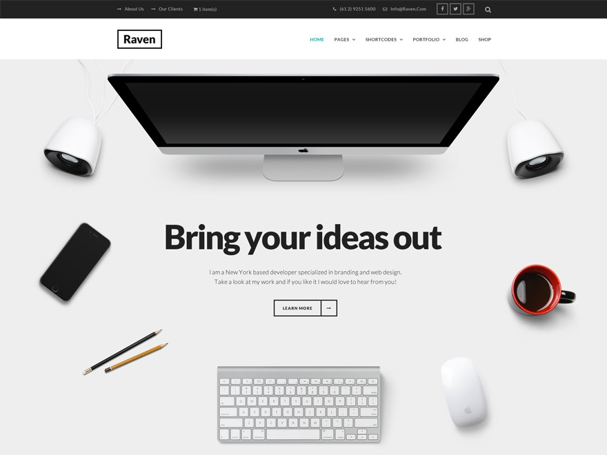 Best WordPress theme ZK_Raven