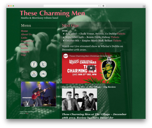 BLANK Theme WordPress theme design - thesecharmingmen.com