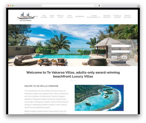 Bridge premium WordPress theme - tevakaroavillas.com