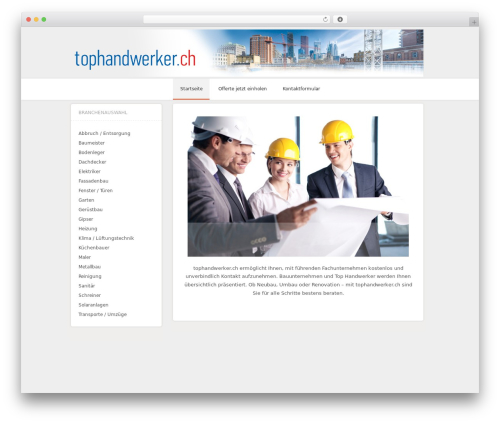 Central template WordPress free - tophandwerker.ch