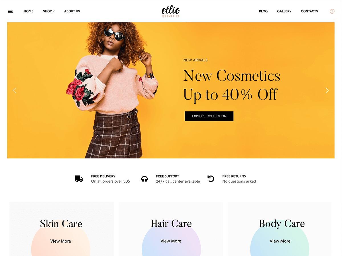 Ellie best WordPress template