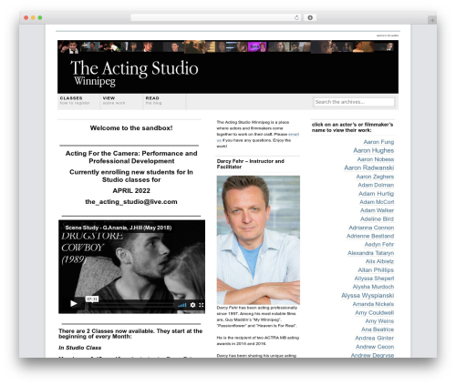 Grid Focus theme WordPress - theactingstudiowinnipeg.com