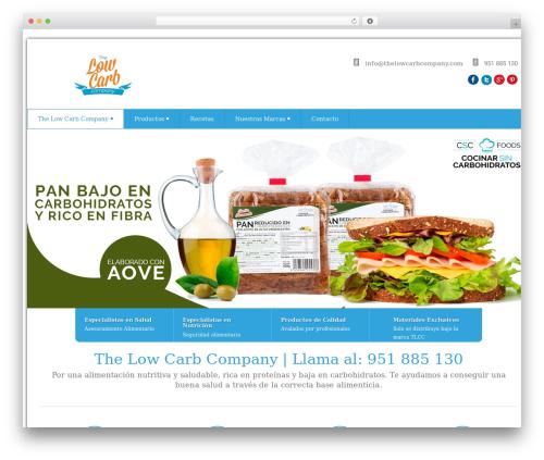 Health-Center-Lite WordPress template for business - thelowcarbcompany.com