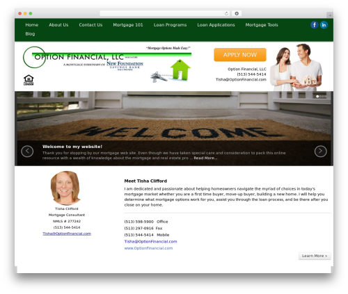 MortgageCRM WordPress template for business - tishaclifford.com