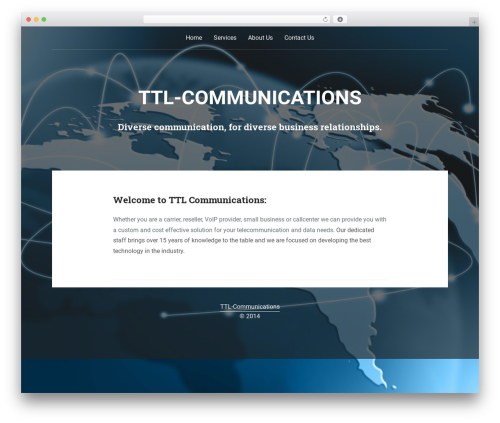 Padhang business WordPress theme - ttl-communications.com