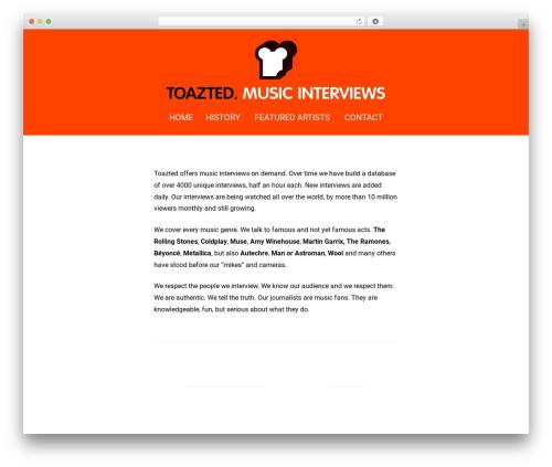 Padhang WordPress template - toazted.com