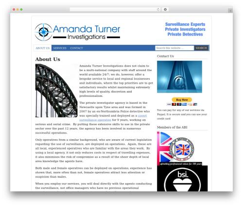 Prose WordPress theme - turnerinvestigations.co.uk