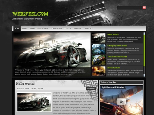 Raceclan WordPress gaming theme