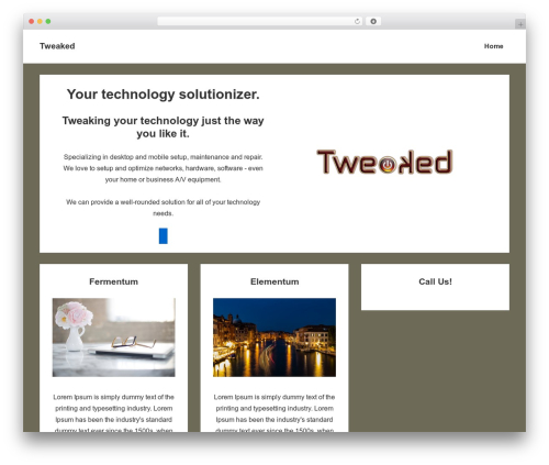 Responsive theme WordPress - tweakedit.com