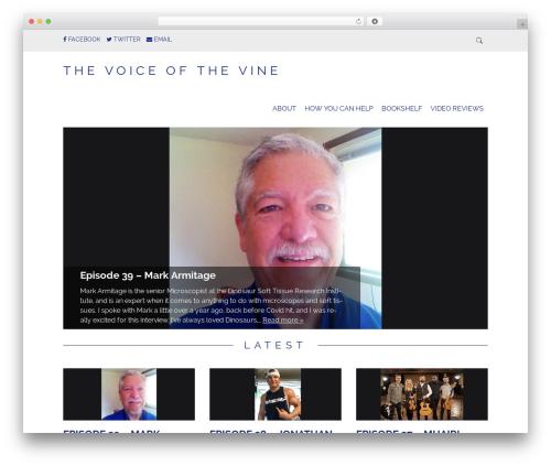 Simply Read template WordPress - thevoiceofthevine.com