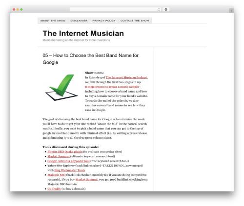 Free WordPress Free Squeeze Page, Landing Page Builder & Templates Creator For WordPress plugin - theinternetmusician.com