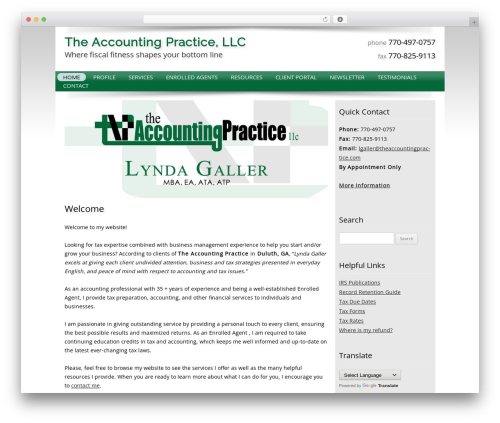 WordPress template Customized - theaccountingpractice.com