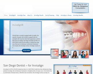 wordpress template invisalign by now media group