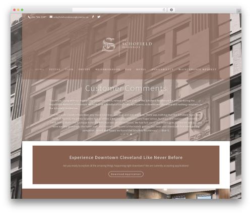 WordPress theme Divi - theschofieldresidences.com