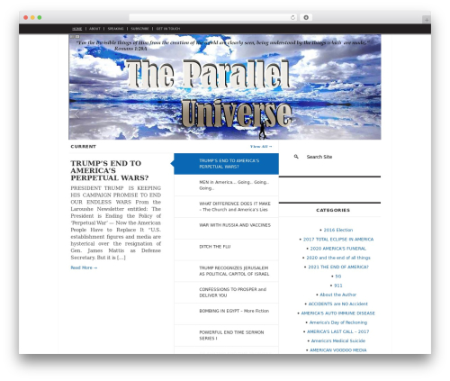 WordPress theme The Daily Press - the-parallel-universe.com