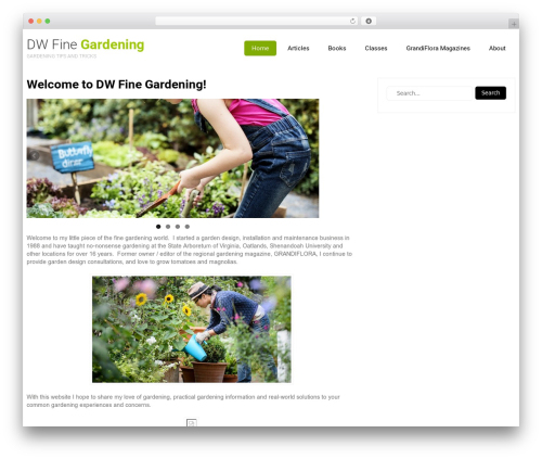 Eco Friendly Lite WordPress website template - dwfinegardening.com