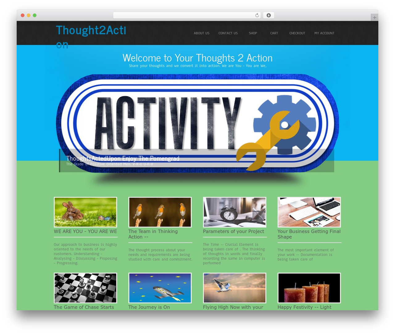 Simplicity Lite WordPress theme free download - yourthought2action.com
