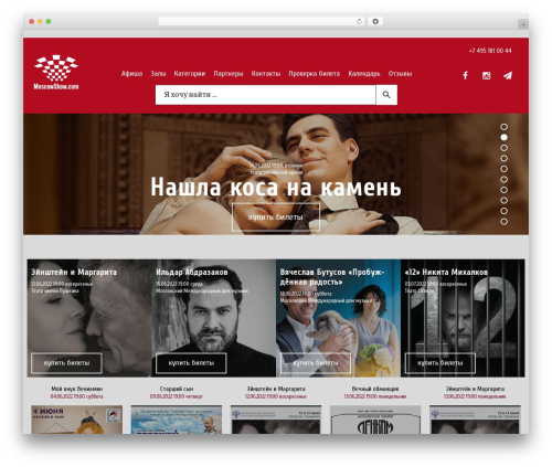 WordPress template StylePark - moscowshow.com