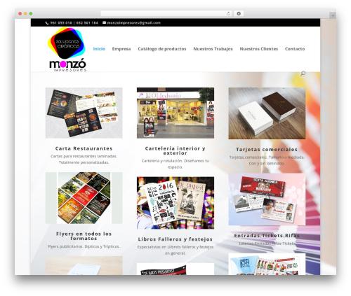 WordPress website template Divi - monzoimpresores.com