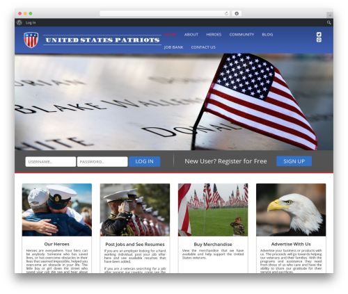 Best WordPress template SPELLSTRAP - unitedstatespatriots.com
