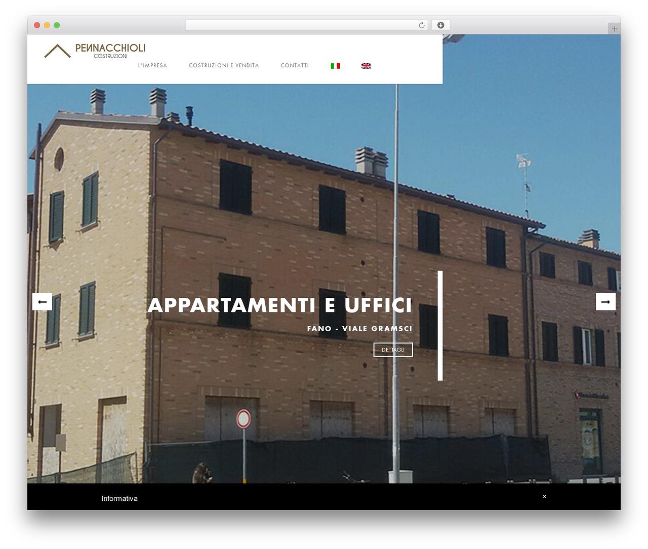 Domik theme WordPress - pennacchiolicostruzioni.com