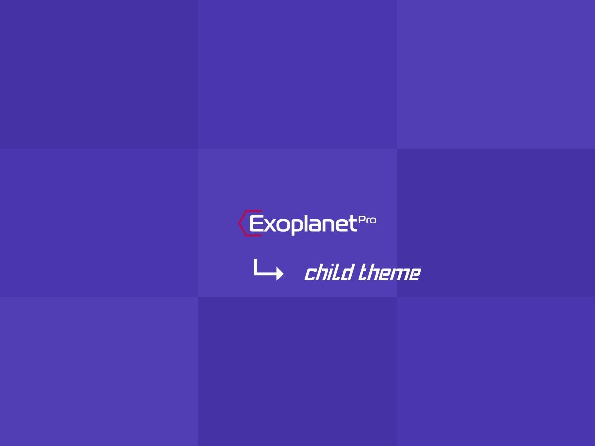 Exoplanet Pro Child WordPress page template