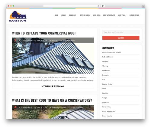 LiveBlog WordPress template free - houseilove.com