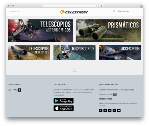 Oasis premium WordPress theme - celestronspain.com
