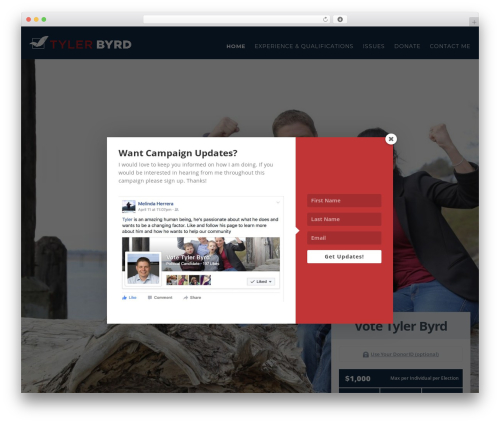 Politist WordPress theme - votetylerbyrd.com