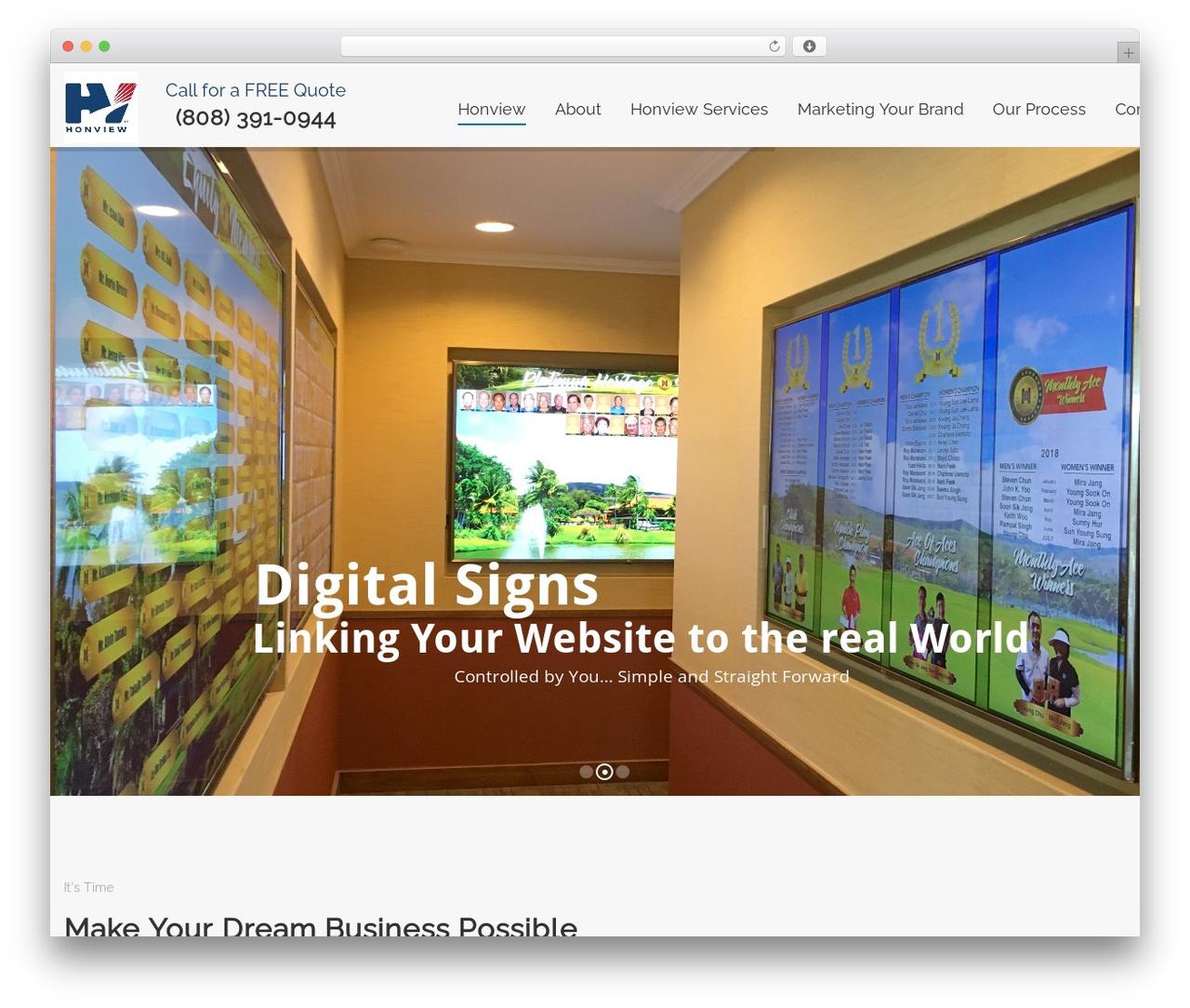 Sanigo template WordPress - honview.com