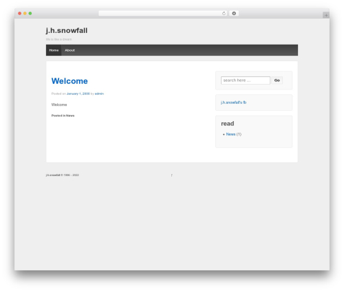 WordPress theme Responsive - jhsnowfall.com
