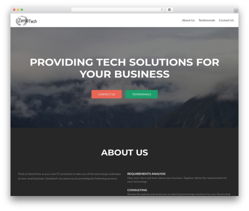 Zerif Lite WordPress theme free download - zentotech.com
