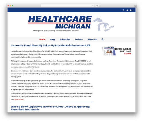Avada WordPress website template - healthcaremichigan.com