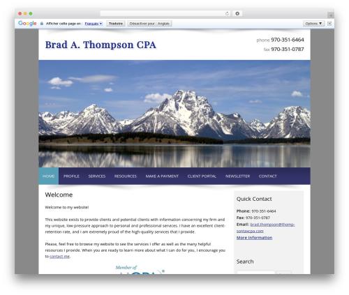 Customized WordPress theme - thompsontaxcpa.com