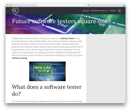 SeaShell WordPress website template - trysoftwaretesting.com