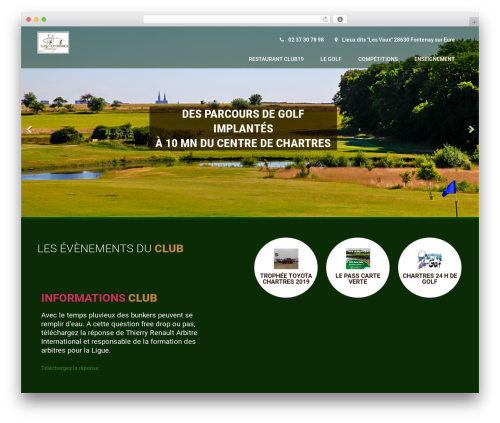 Template WordPress Coffee Pro - golf-chartres.com
