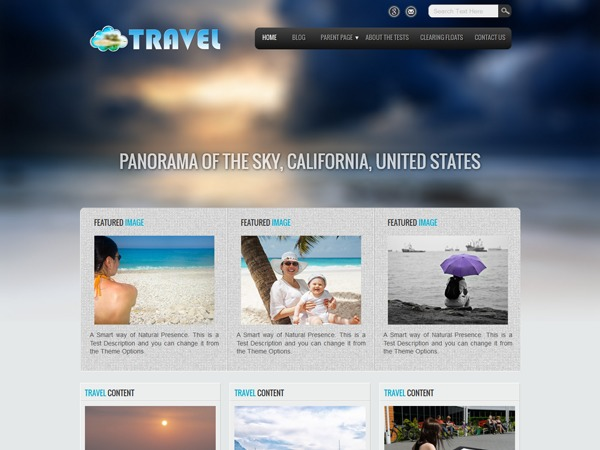 Travel Lite WordPress hotel theme
