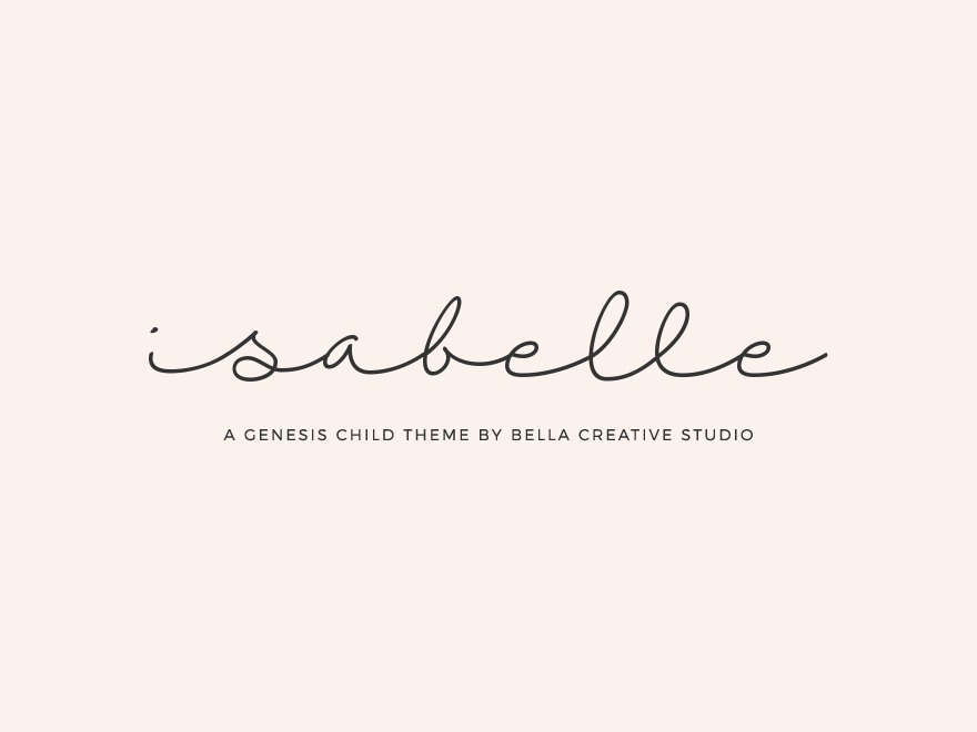 WordPress template Isabelle