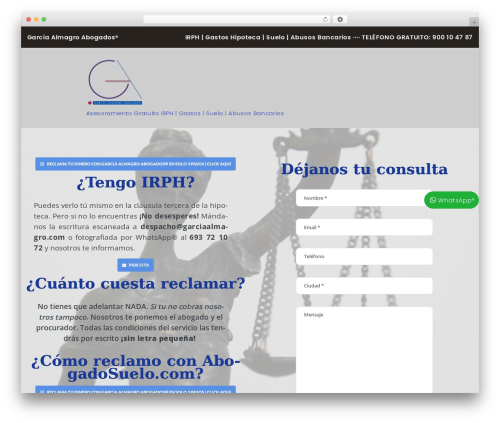 WordPress template LegalAlien - abogadosuelo.com
