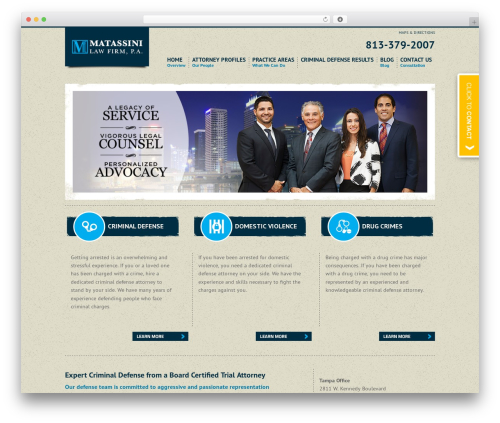 WordPress theme Project X v2 - matassinicriminallaw.com