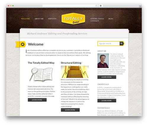 Writer Child top WordPress theme - totallyedited.com