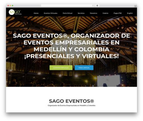 Zerif Lite WordPress template - sagoeventos.com