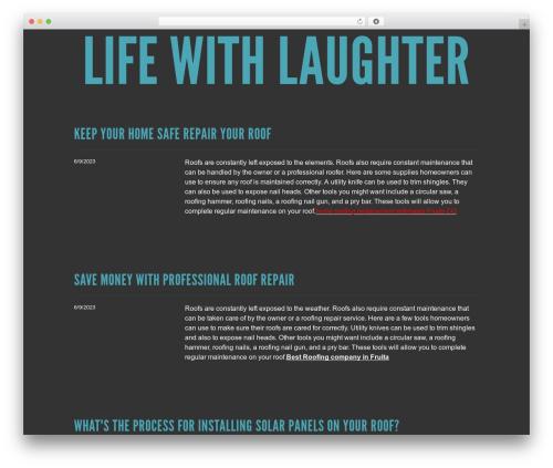 Best WordPress template Trvl - lifewithlaughter.com