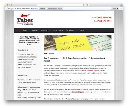Best WordPress theme Customized - tabertax.com