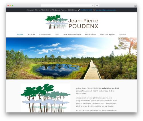 Betheme WordPress theme - poudenx.com