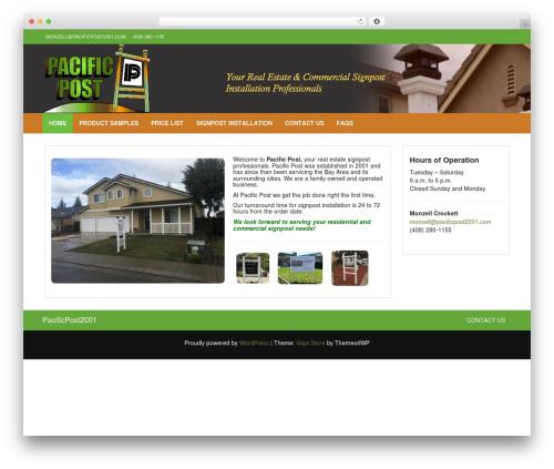 Giga Store free WordPress theme - pacificpost2001.com