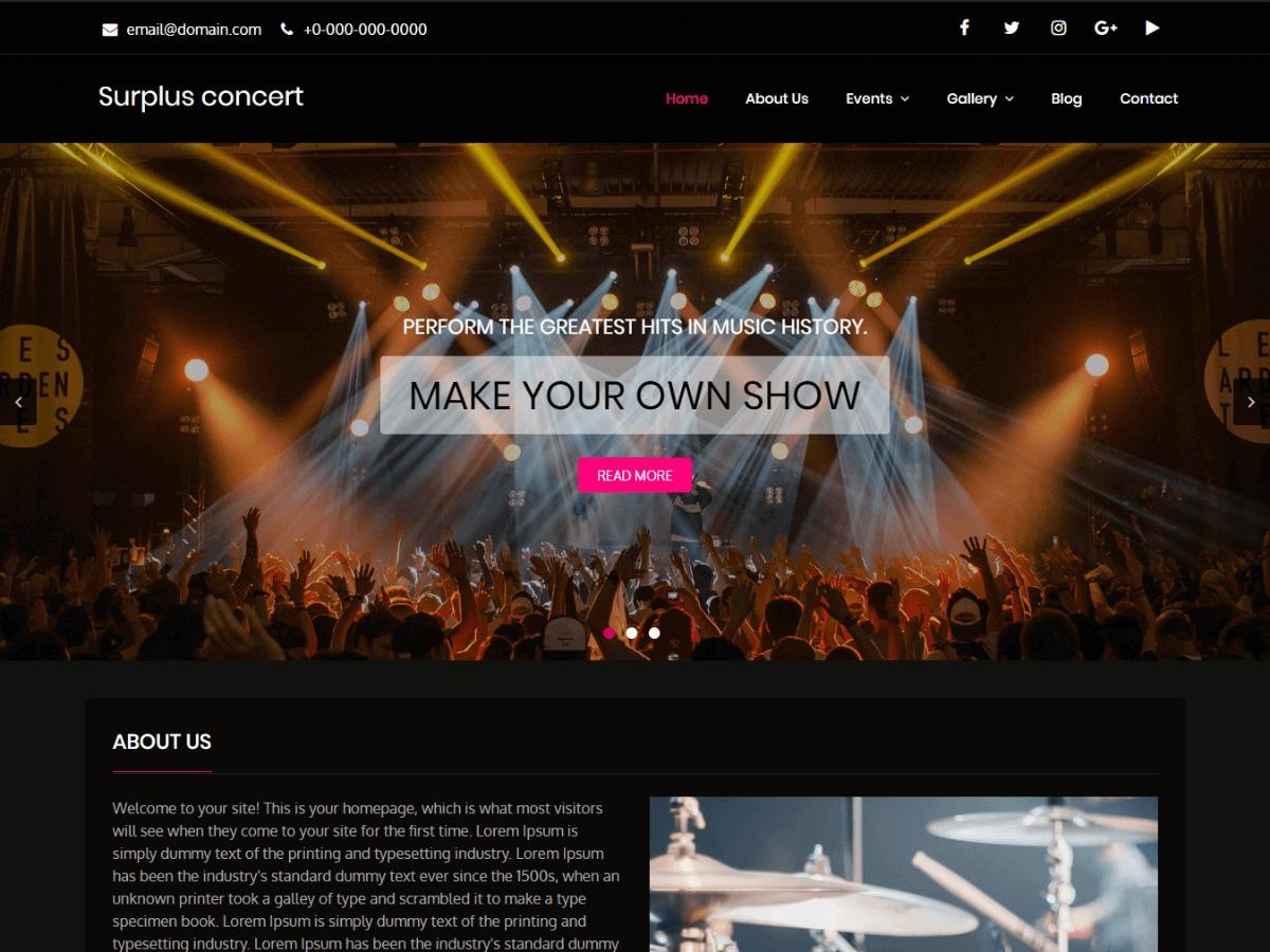 Surplus Concert WordPress blog template