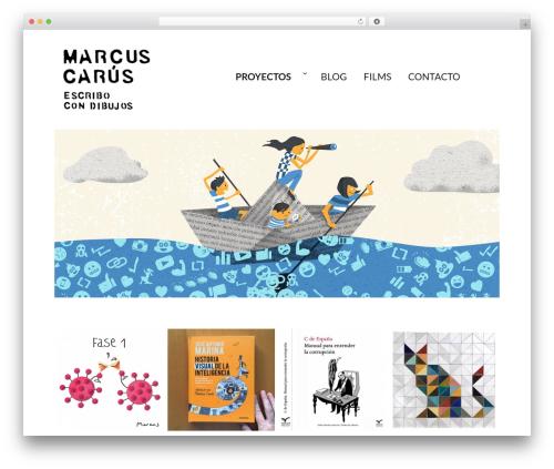 Twenty Sixteen best free WordPress theme - marcuscarus.com